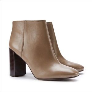 TORY BURCH Bowie Ankle Bootie Slip On Taupe Fango